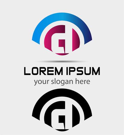 d: Letter D icon Design.Creative Symbol of letter D Illustration