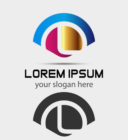 letter l: Letter L icon Design.Creative Symbol of letter L