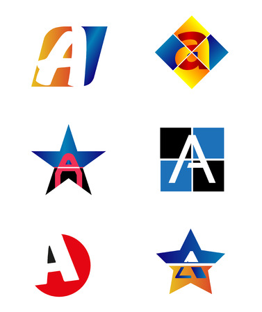 vector web design elements: Letter A icon design