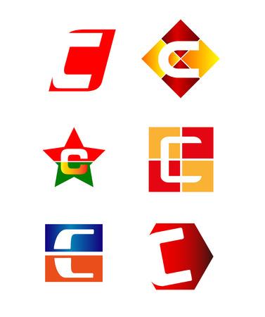 Letter C icon design sample Vector