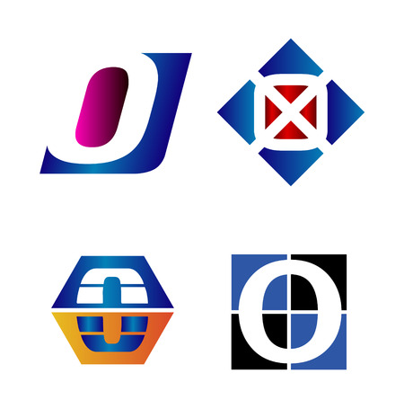 o letters: Alphabetical icon Design Concepts. Letter O Illustration