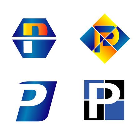 Alphabetical icon Design Concepts. Letter P