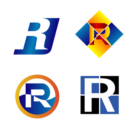 write a letter: Alphabet Symbols And Elements Of Letter R, such a icon Illustration