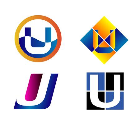 typesetter: Alphabetical icon Design Concepts. Letter U