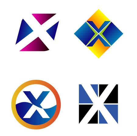 alphabetical: Alphabetical icon Design Concepts. Letter X
