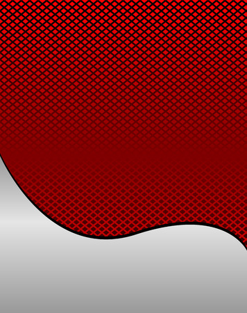 space for images: Red wave grid background vector with place for text