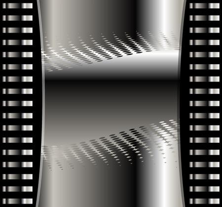metal noir: R�sum� de fond vectoriel avec des couches de m�tal noir fonc�