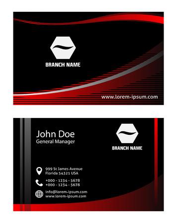 rojo oscuro: Oscuro tarjeta de visita roja