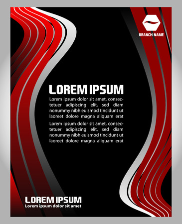 black professional: Professional business flyer black and red template Illustration