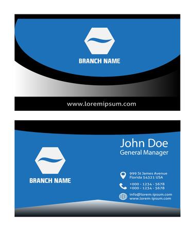 plantilla para tarjetas: Tarjeta de visita azul