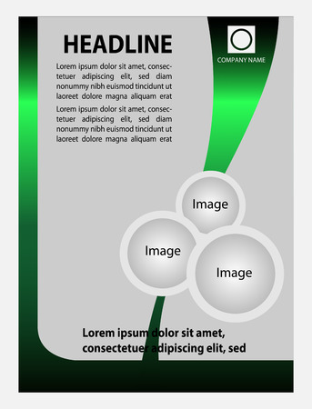 Business Background Flyer Template  Vector Design Concept Vector