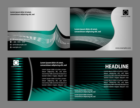 reference: Vector empty bifold brochure print template design