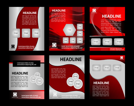 Abstract big set of brochure and flyer template vector illustration Vector