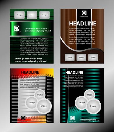 Vector template for advertising brochure set Vector