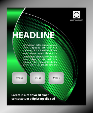 a5: Flyer leaflet booklet layout. Editable design template