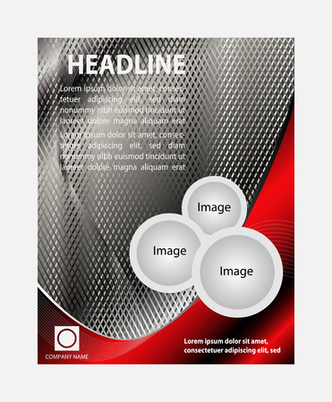 Abstract Brochure Flyer design vector template in A4 size