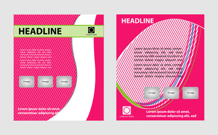 coworker banner: Vector Fashion brochure flyer magazine cover  poster template Illustration