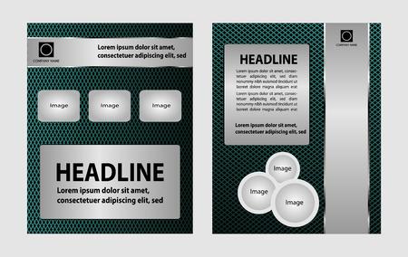 Vector empty brochure template design with blue elements Vector