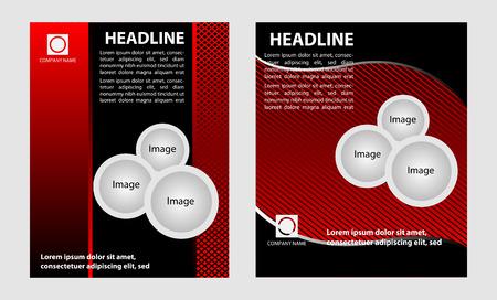 brochureflyer design set Vector