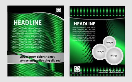 desig: Vector green  brochure template desig