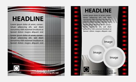 Set of modern brochure design Vector