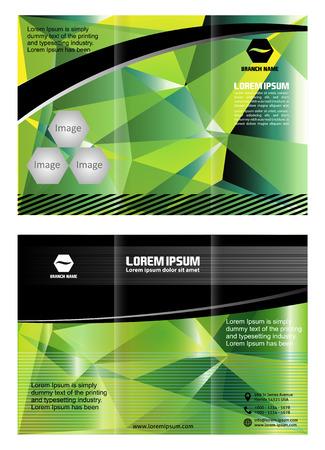 illustartion: Trifold brochure design elemenr vector illustartion