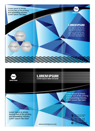 Bifold brochure template design with green color Vector