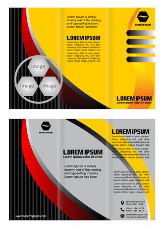 Modern trifold brochure design template Ilustrace