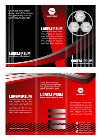 tri fold: tri fold business brochure template Illustration