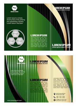 tri: Green tri fold business brochure template