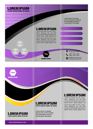 Vector empty trifold brochure template design Vector