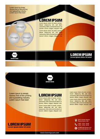Trifold brochure template design business leaflet booklet Vector
