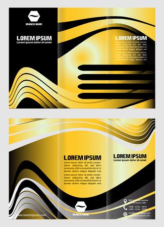 book publisher: Tri fold business brochure template Illustration