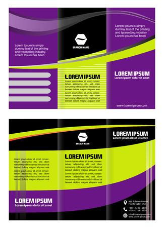 invitation barcode: tri fold brochure template Illustration