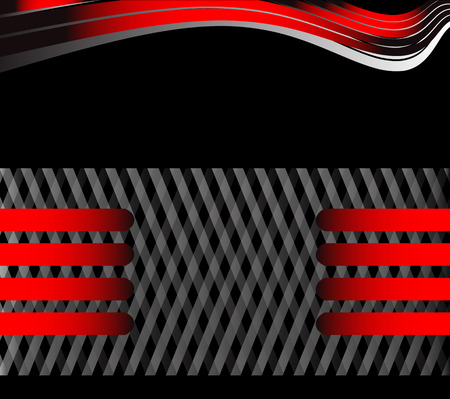 vector black and red background message board for text and message design frame Ilustração