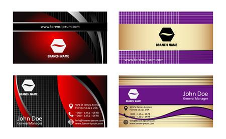 plantilla para tarjetas: Conjunto de plantillas de tarjetas personales