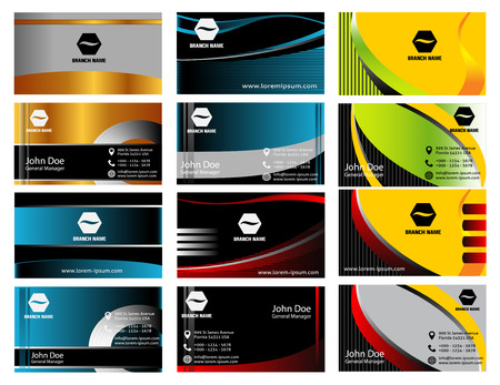 Abstract business cards set Illustration