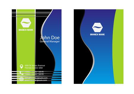 horizontal: Horizontal business card design
