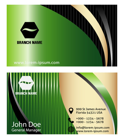 business card: Abstract Business Card set vector Illustration