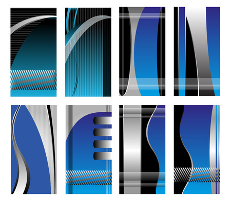 Abstract vector business background banner beautiful blue wave Vector