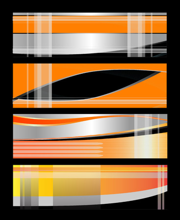 Abstract vertical header colorful wave vector Vector