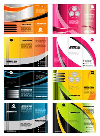 Set of trifold brochure template leaflet layout design