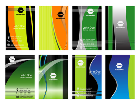 Collection of abstract multicolored backgrounds. Eps 10 vector design Vector
