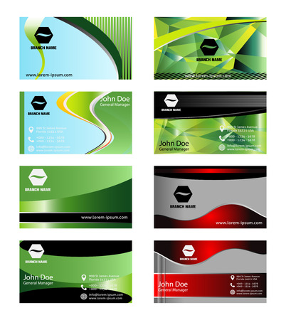 name calling: Set of Modern business card Illustration