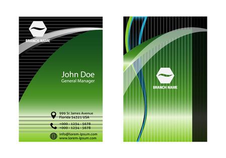 Green business card Vector