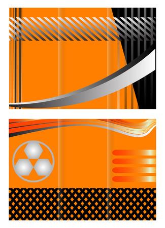 TriFold Brochure Design set Vector