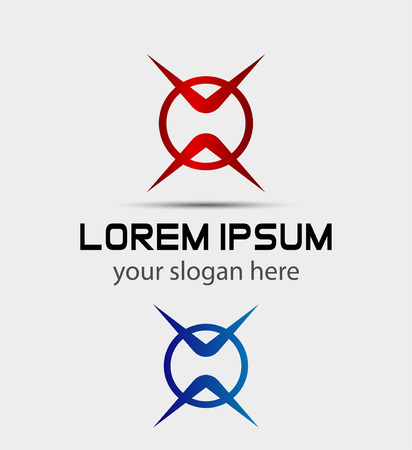 looped shape: Abstract Symbol Icon. EPS 10 vector