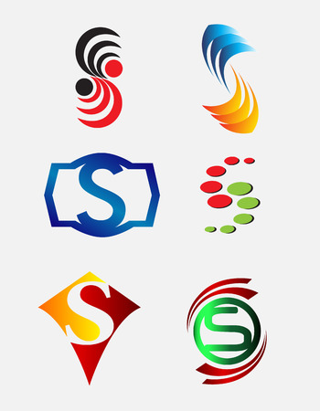 Set of Decorative Letter s Icons Logo and Elements Logo