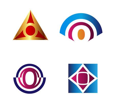 Set of Letter O icon Ilustração