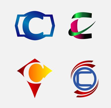 c to c: Letter C logo design sample
